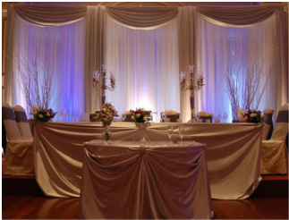 cookeville wedding drapery